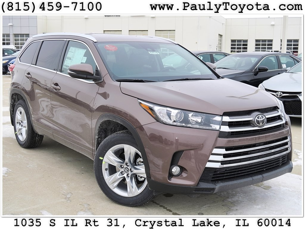 New 2017 Toyota Highlander 4d Sport Utility In Crystal