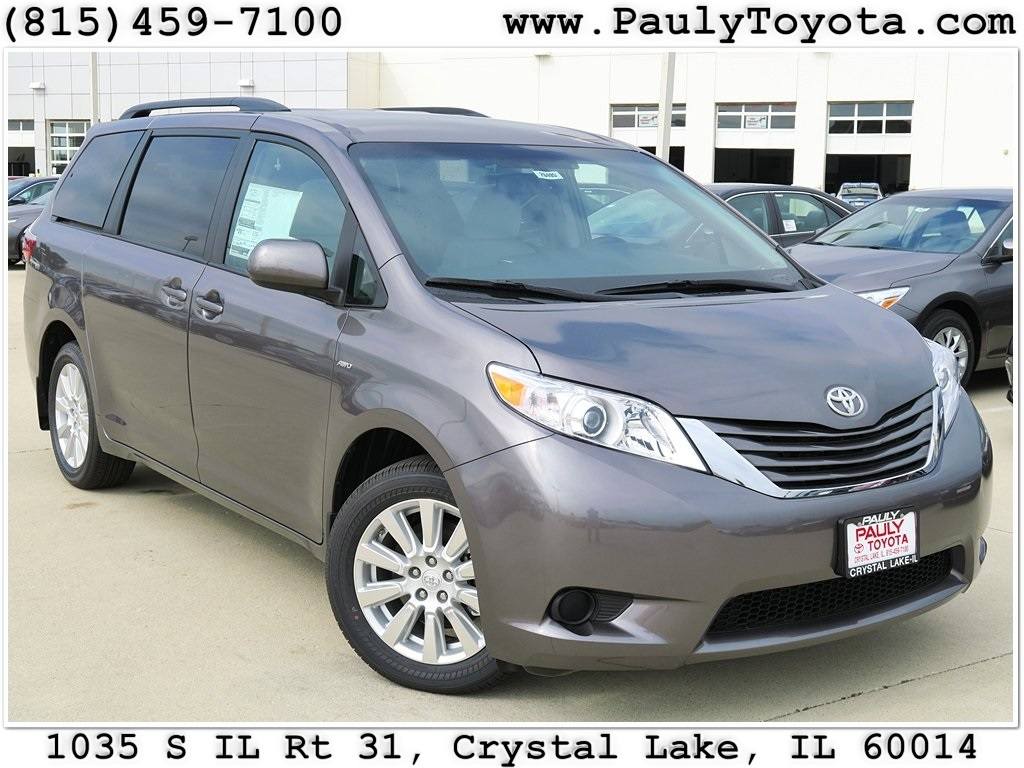 new 2017 toyota sienna le 4d passenger van in crystal lake s26495 pauly toyota. Black Bedroom Furniture Sets. Home Design Ideas