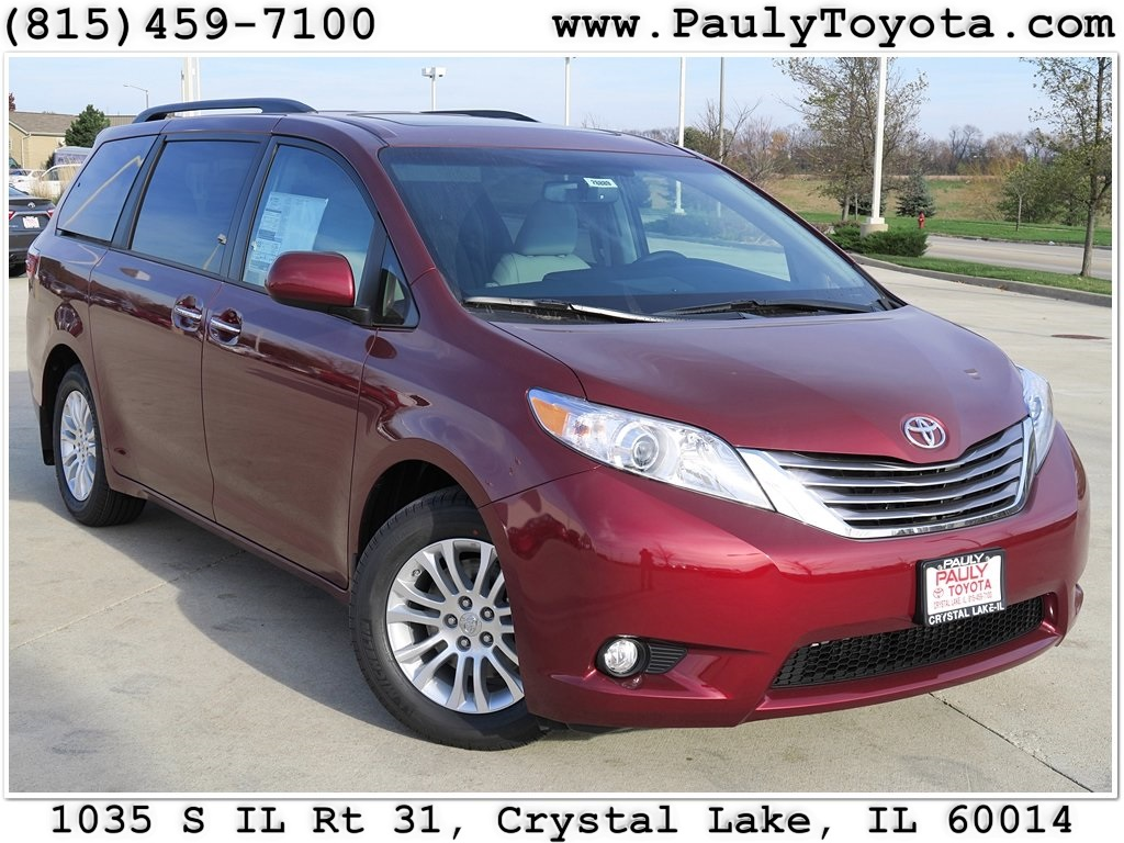 new 2017 toyota sienna xle premium 4d passenger van in crystal lake s26889 pauly toyota. Black Bedroom Furniture Sets. Home Design Ideas